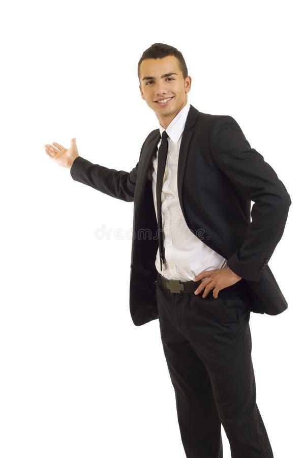 Hombre que da una presentación foto de archivo