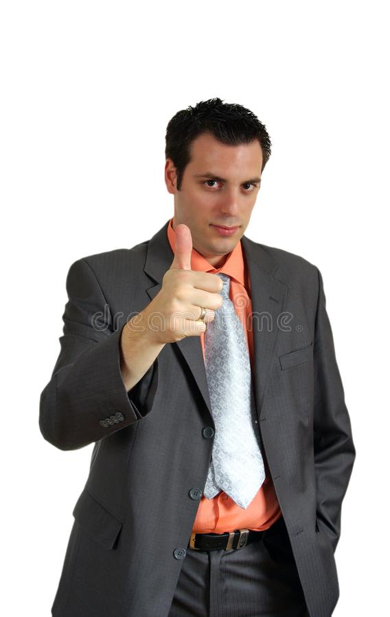 Hombre que detiene el pulgar imagen de archivo libre de regalías