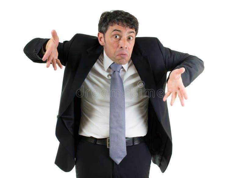 Hombre que encoge sus hombros imagen de archivo libre de regalías