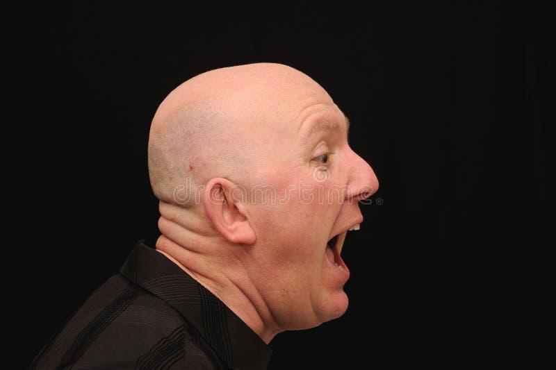 Hombre que grita o que grita imagen de archivo libre de regalías