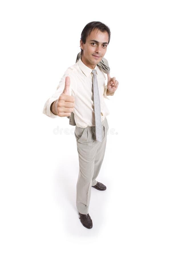 Hombre que hace el gesto de la autorización fotos de archivo libres de regalías
