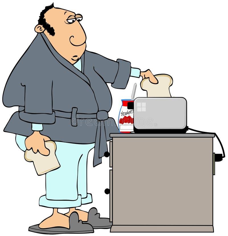 Hombre que hace la tostada libre illustration