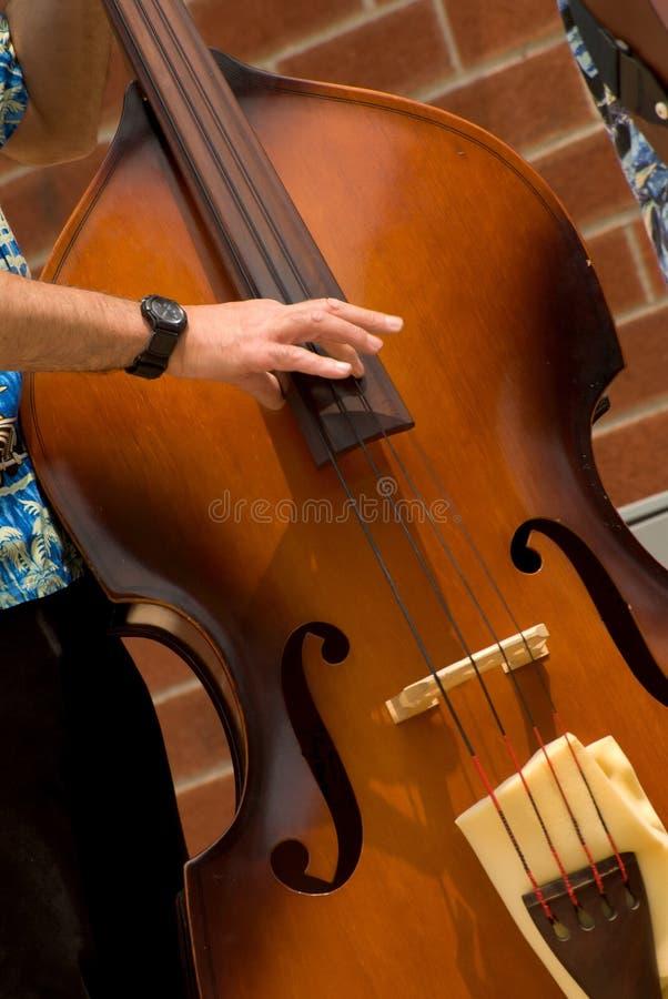 Hombre que juega el bajo del jazz fotos de archivo libres de regalías