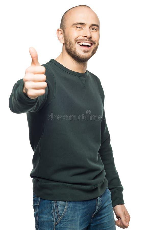 Hombre que muestra los pulgares para arriba fotos de archivo
