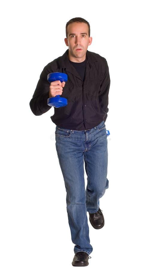 Download Hombre Que Se Ejecuta Hacia Cámara Imagen de archivo - Imagen de azul, weightlifter: 7289839