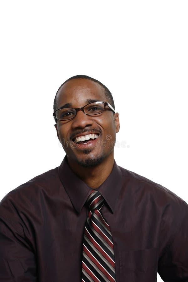 Hombre que sonríe - vertical foto de archivo