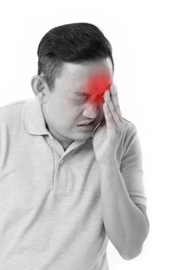 Hombre que sufre de enfermedad del ojo foto de archivo libre de regalías
