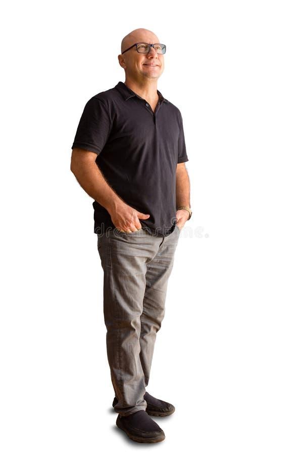 Hombre relajado sonriente en leisurewear fotos de archivo