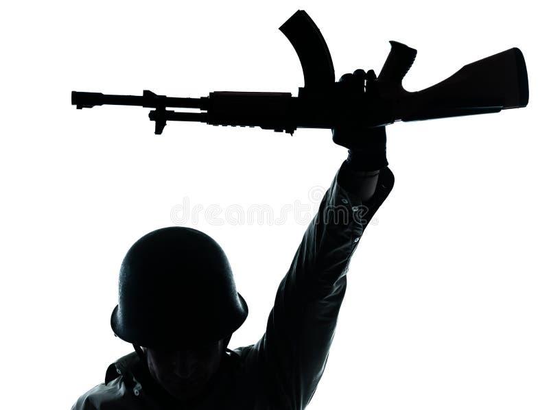 Hombre revolucionario del soldado del ejército imagenes de archivo