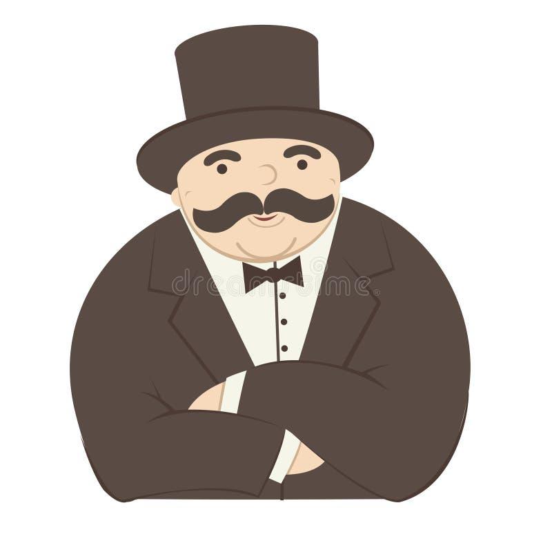 Hombre rico ilustración del vector
