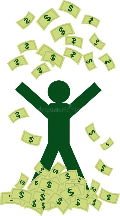Hombre rico con el dinero libre illustration