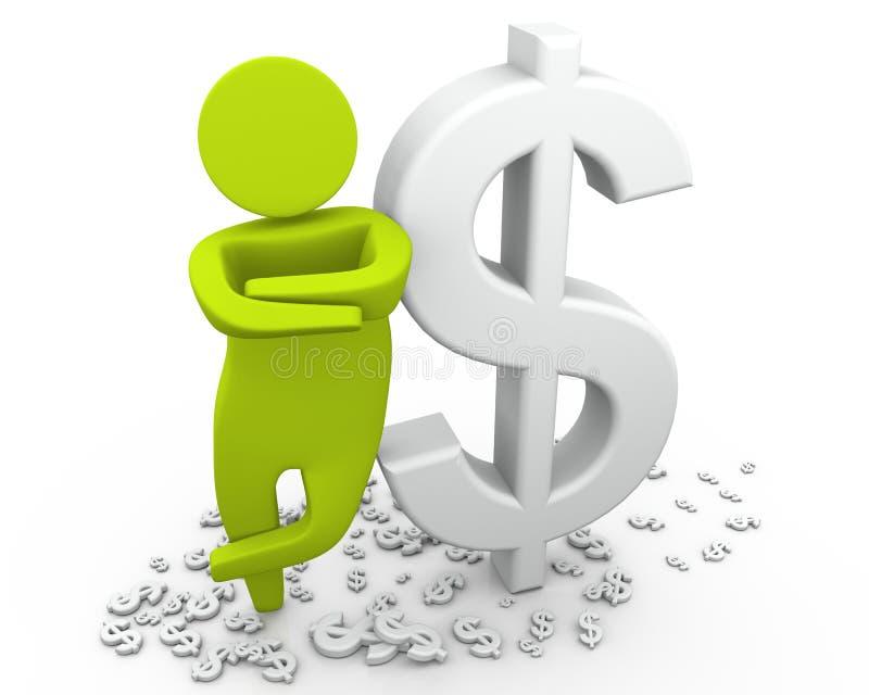 Hombre rico - dólar ilustración del vector