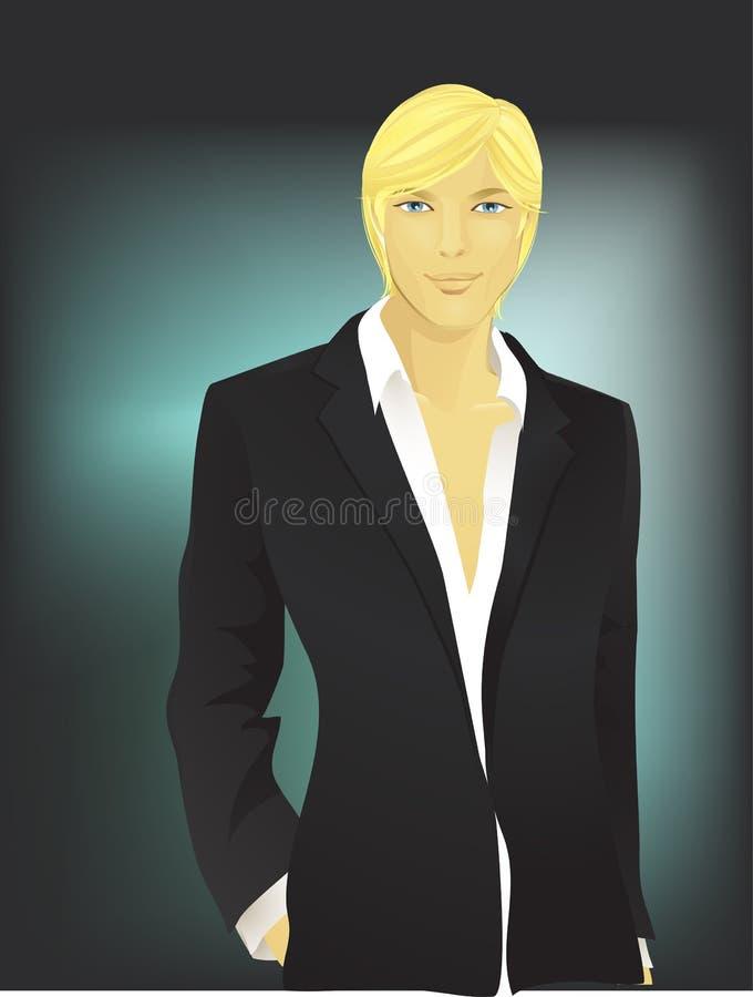 Hombre-rubio joven ilustración del vector