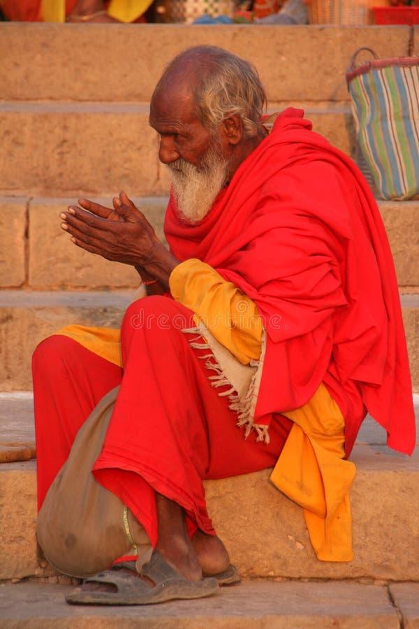 Hombre santo indio imágenes de archivo libres de regalías