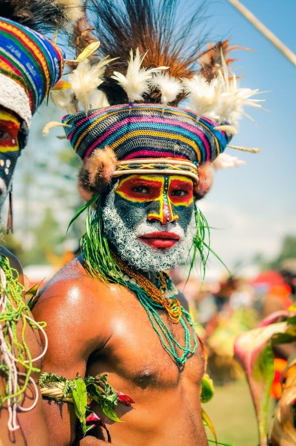 Hombre serio en Papúa Nueva Guinea fotos de archivo libres de regalías