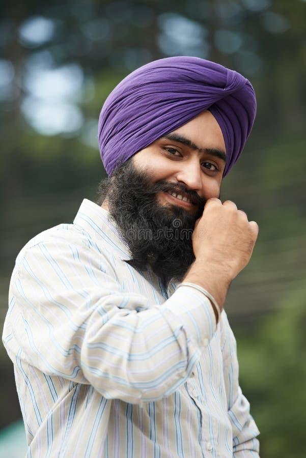 Hombre sikh indio adulto joven fotografía de archivo