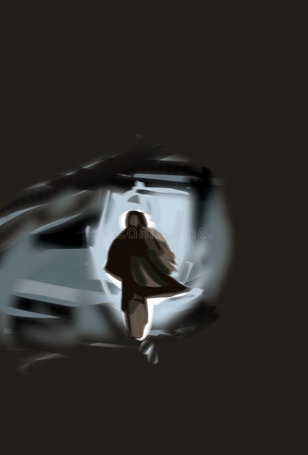 Hombre solitario ilustración del vector