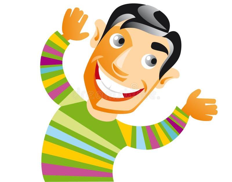 Hombre sonriente libre illustration