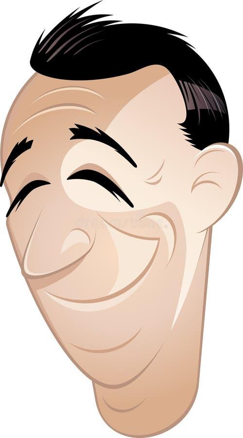 Hombre sonriente de la historieta stock de ilustración