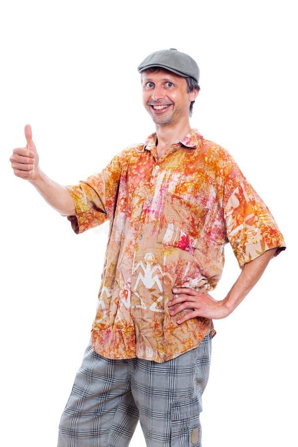 Hombre sonriente divertido fotos de archivo