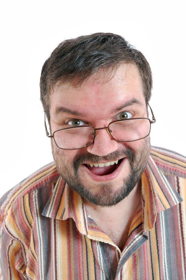 Hombre sorprendido feliz imagenes de archivo