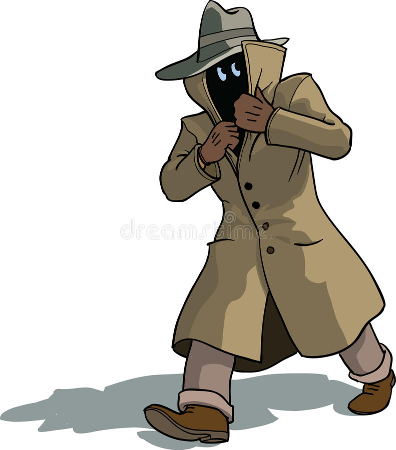 Hombre sospechoso stock de ilustración