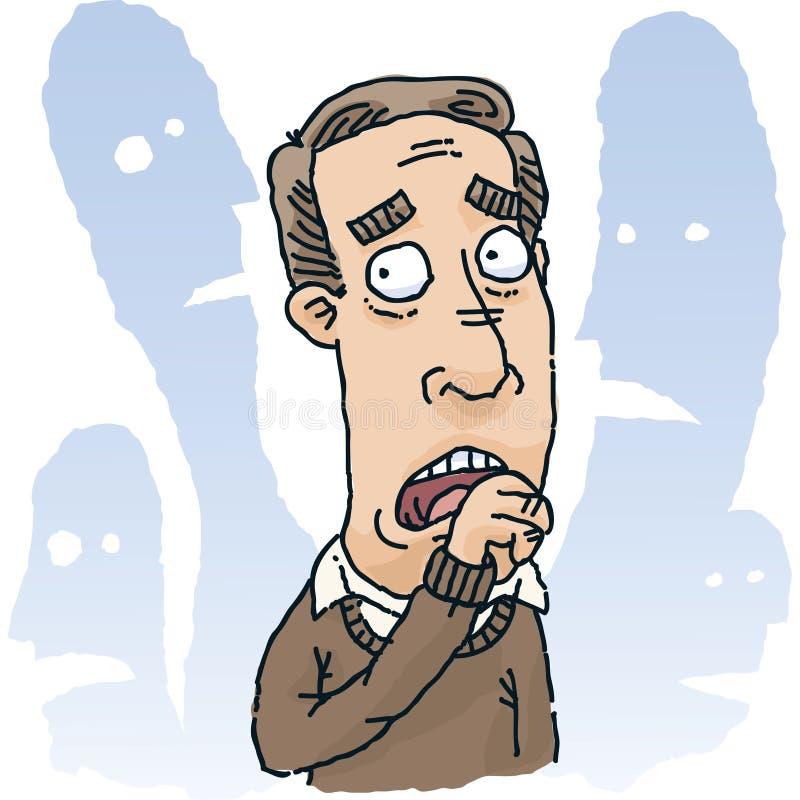 Hombre temeroso ilustración del vector