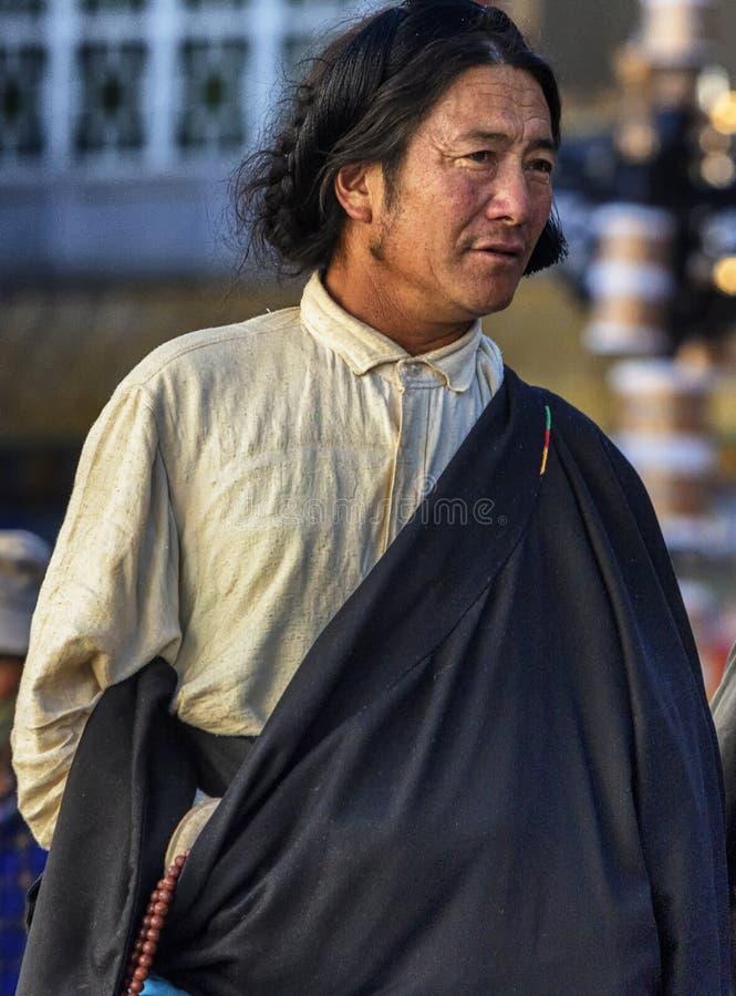 Hombre tibetano imagen de archivo libre de regalías