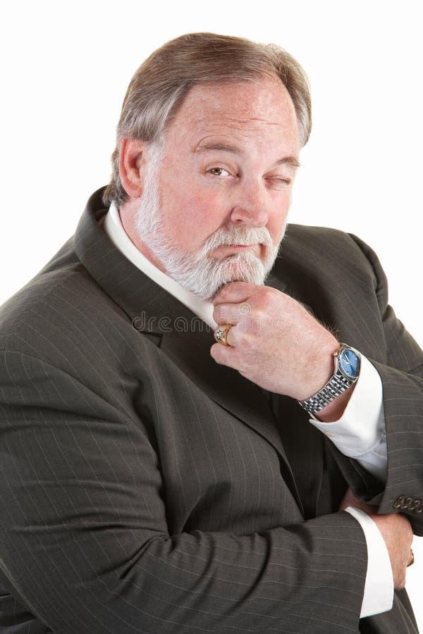 Hombre tolerante con la barba foto de archivo