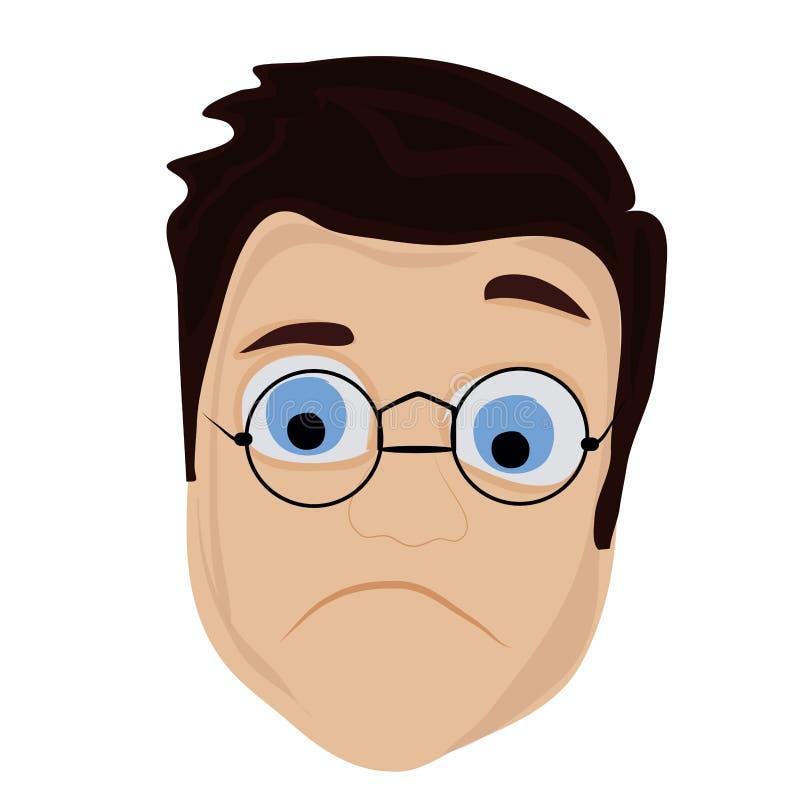 Hombre triste ilustración del vector