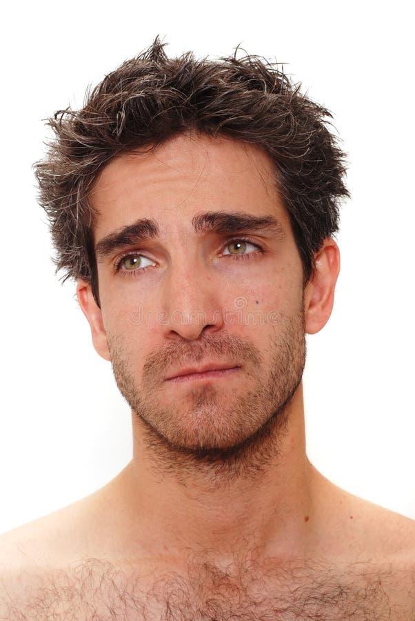 Hombre triste fotografía de archivo libre de regalías