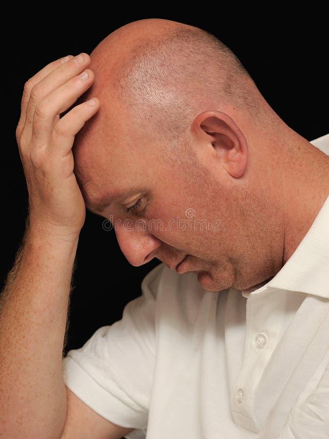 Hombre triste fotos de archivo