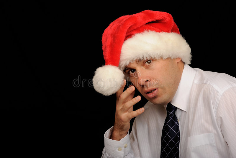 Hombre triste de la Navidad fotos de archivo