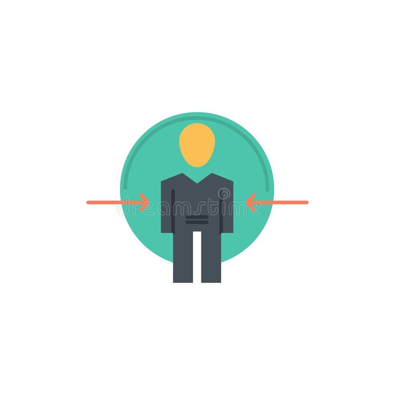 Hombre, usuario, clave, identificación, icono plano del color de la identidad Plantilla de la bandera del icono del vector ilustración del vector