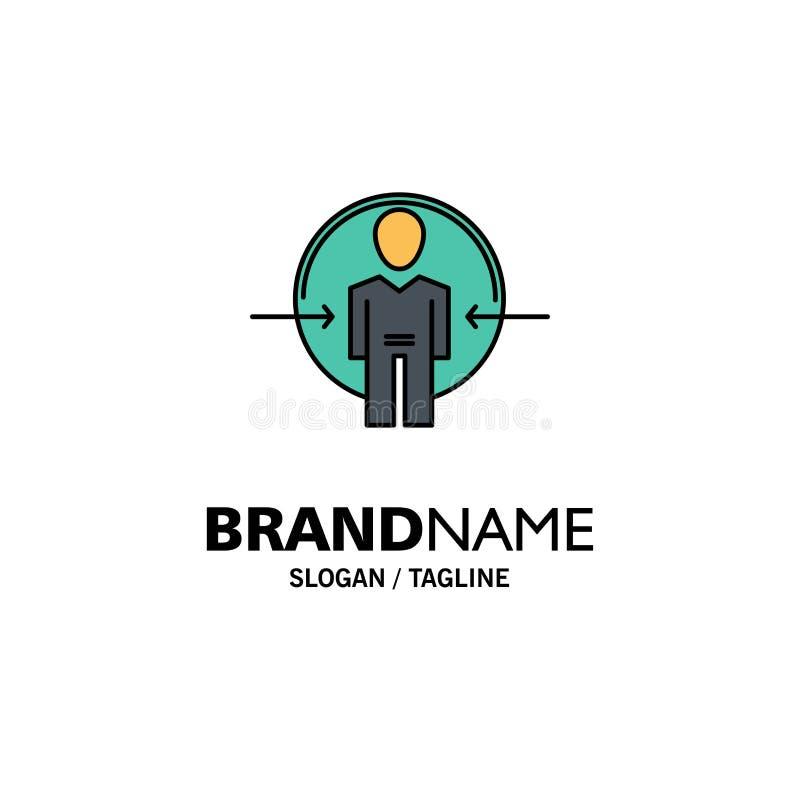 Hombre, usuario, clave, identificación, negocio Logo Template de la identidad color plano libre illustration