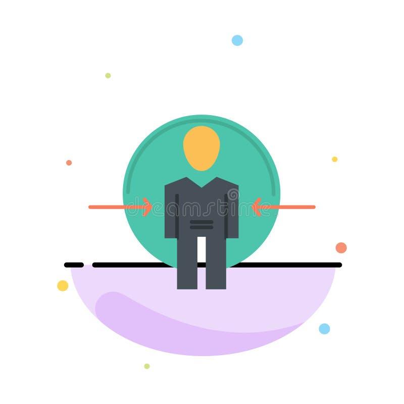 Hombre, usuario, clave, identificación, plantilla plana del icono del color del extracto de la identidad stock de ilustración