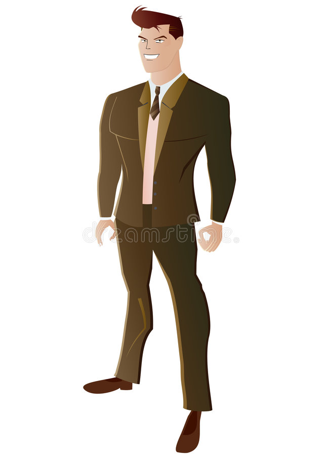 Hombre vestido en juego de asunto libre illustration