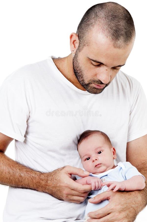Hombre y bebé imágenes de archivo libres de regalías