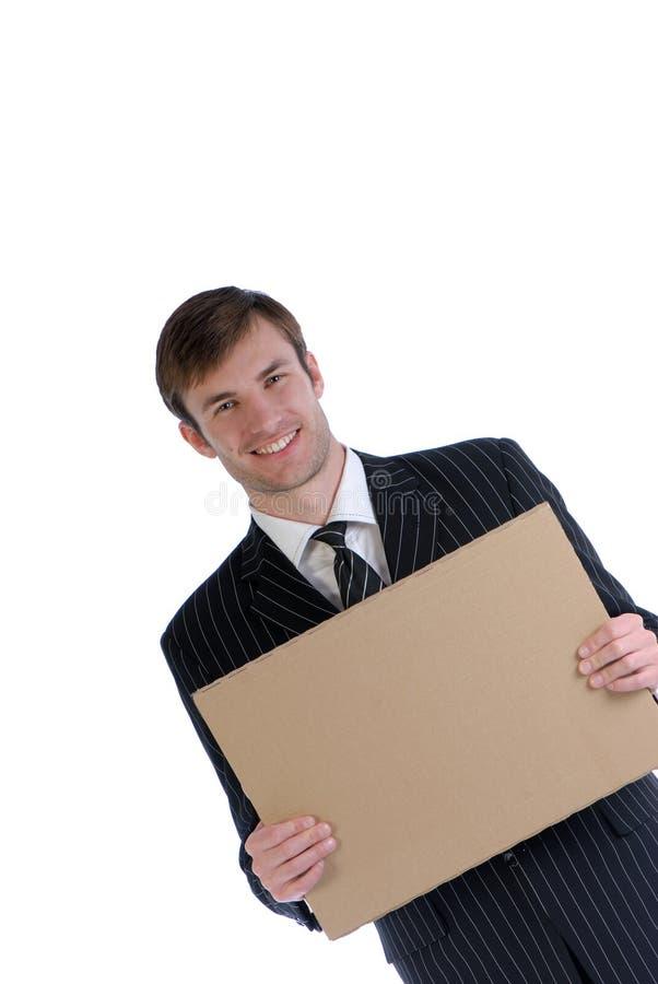 Download Hombre y cartulina imagen de archivo. Imagen de foto, businessman - 7283723