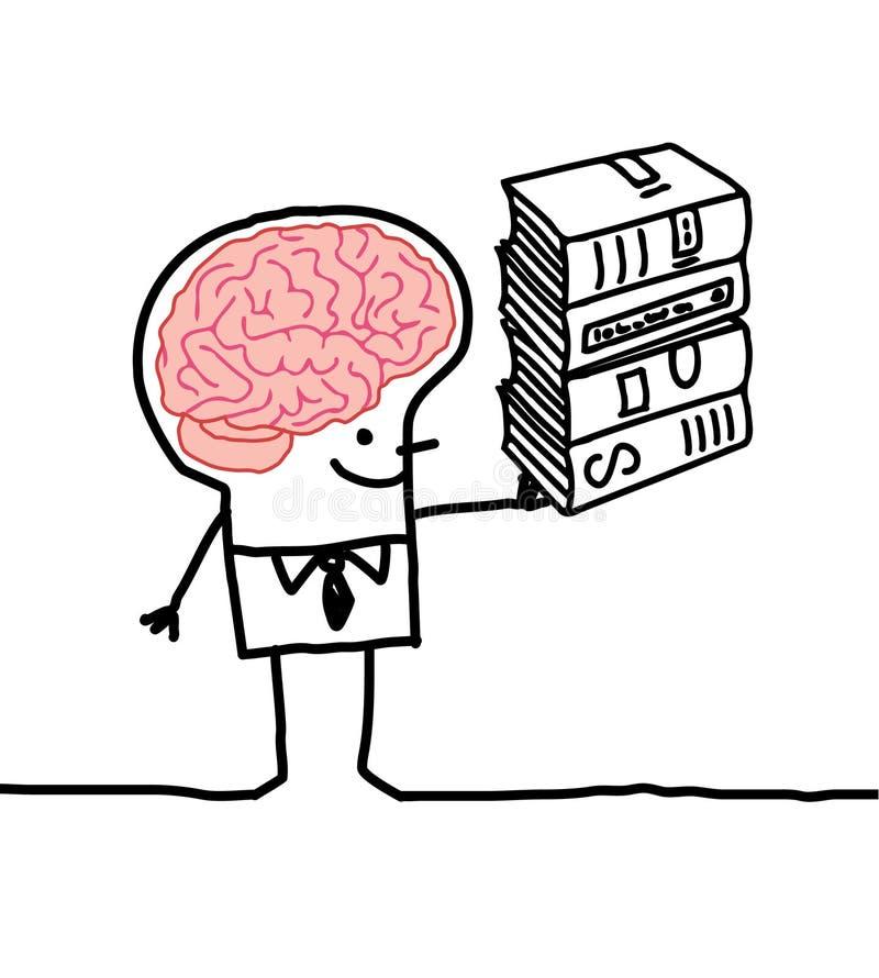 Hombre y cerebro 2 ilustración del vector