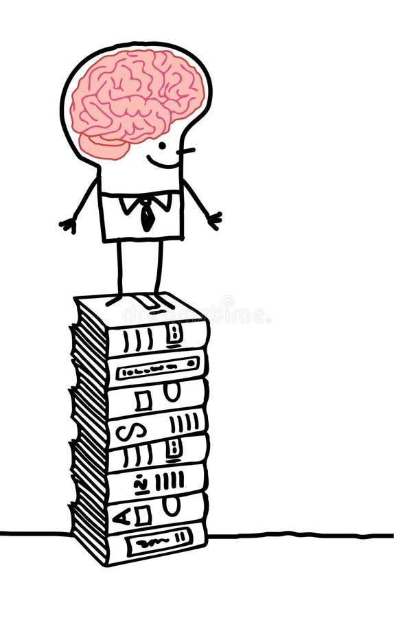 Hombre y cerebro 3 stock de ilustración