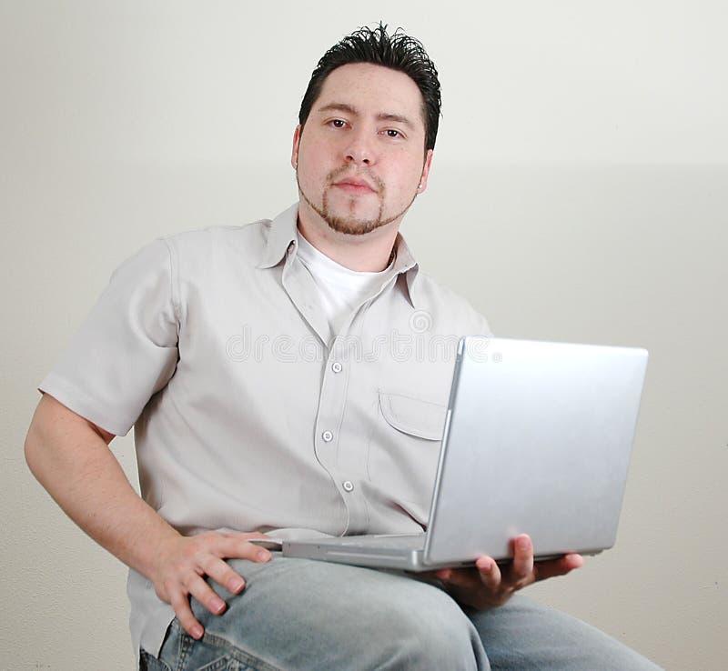 Hombre y computer-6 imagen de archivo