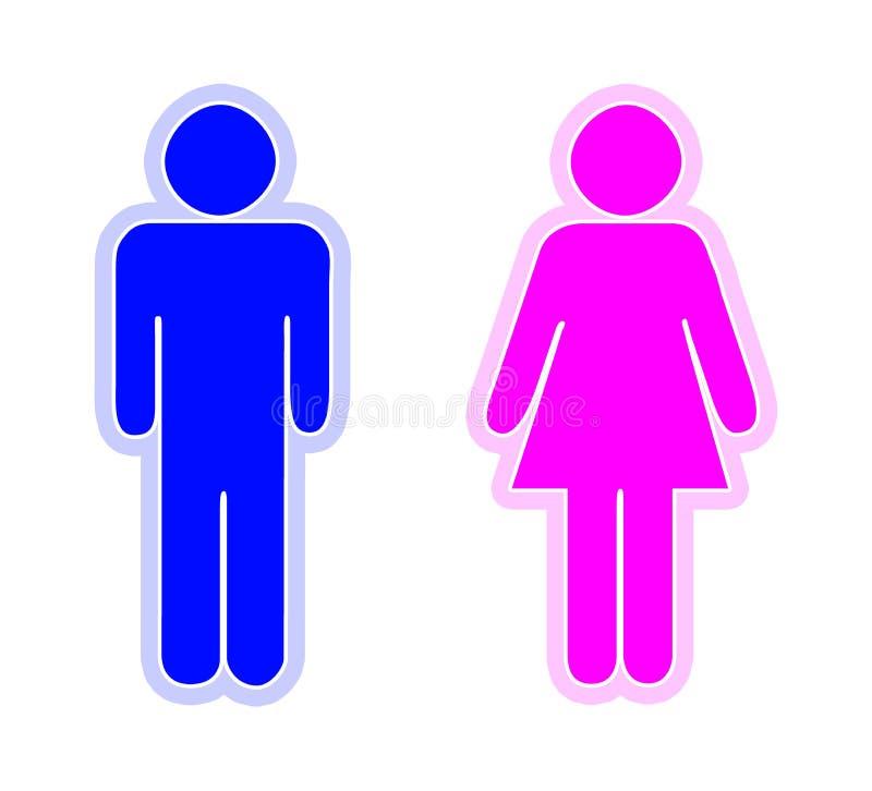 Hombre y mujer libre illustration