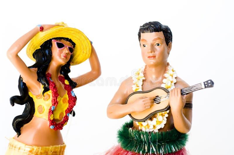 Hombre y mujer de Hula imagen de archivo libre de regalías