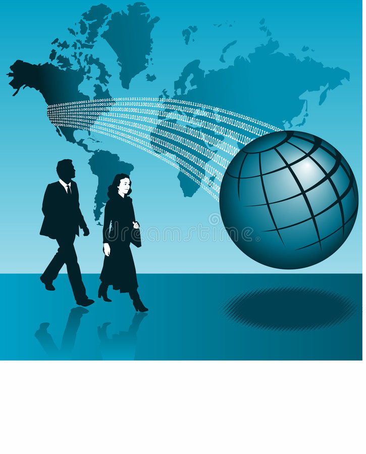 Hombre y mujer de negocios globales libre illustration