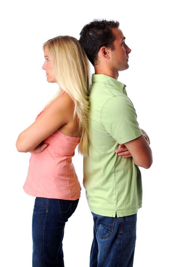 Hombre y mujer infelices fotografía de archivo