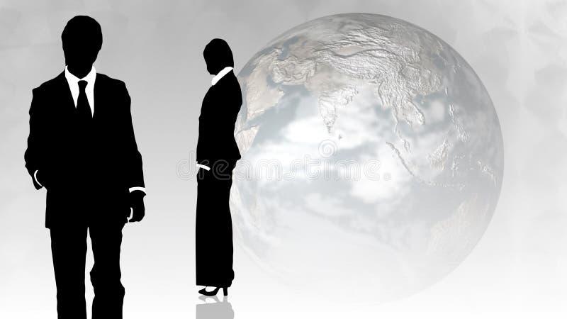 Download Hombre Y Mujer Que Muestran Trabajo En Equipo En Concepto De Los Busines Stock de ilustración - Ilustración de gente, conversación: 7288357