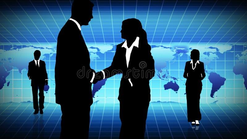Download Hombre Y Mujer Que Muestran Trabajo En Equipo En Concepto De Los Busines Stock de ilustración - Ilustración de comercio, cooperación: 7288361