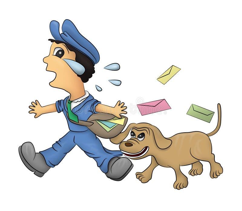 Hombre y perro del correo libre illustration