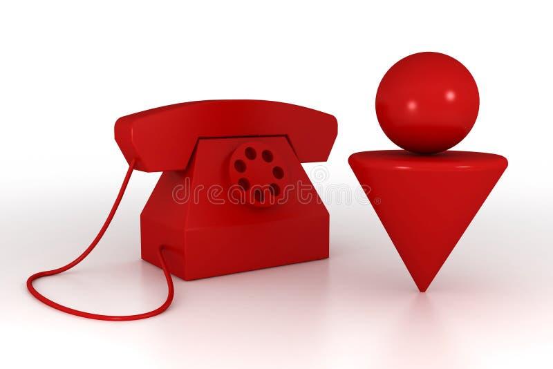 Hombre y teléfono ilustración del vector